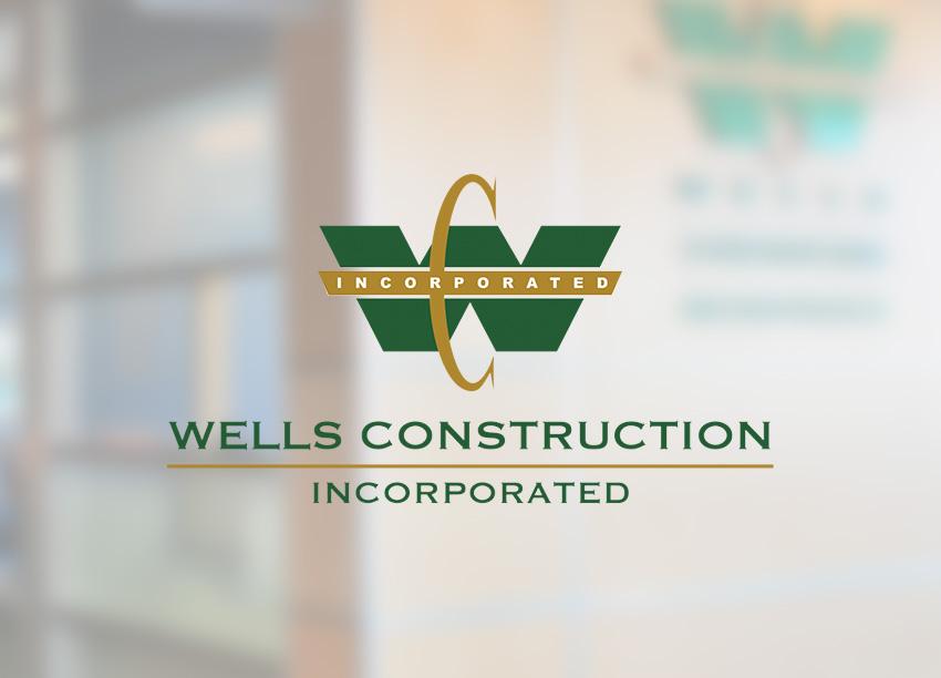 Wells Construction logo identity design