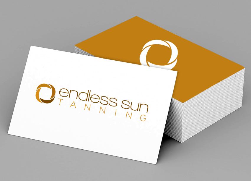 Endless Sun Tanning logo identity design