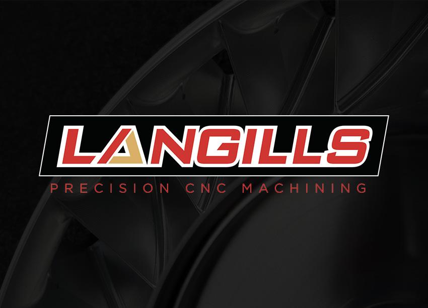 Langills Precision CNC Machining logo identity design